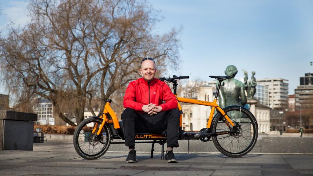GRÜNDER: Oslo Cargobikes er helt i startgropa, med Bullitt som eneste kort på hånda. Det er dog et ess, ifølge innehaveren, Christian Duelund Græm.