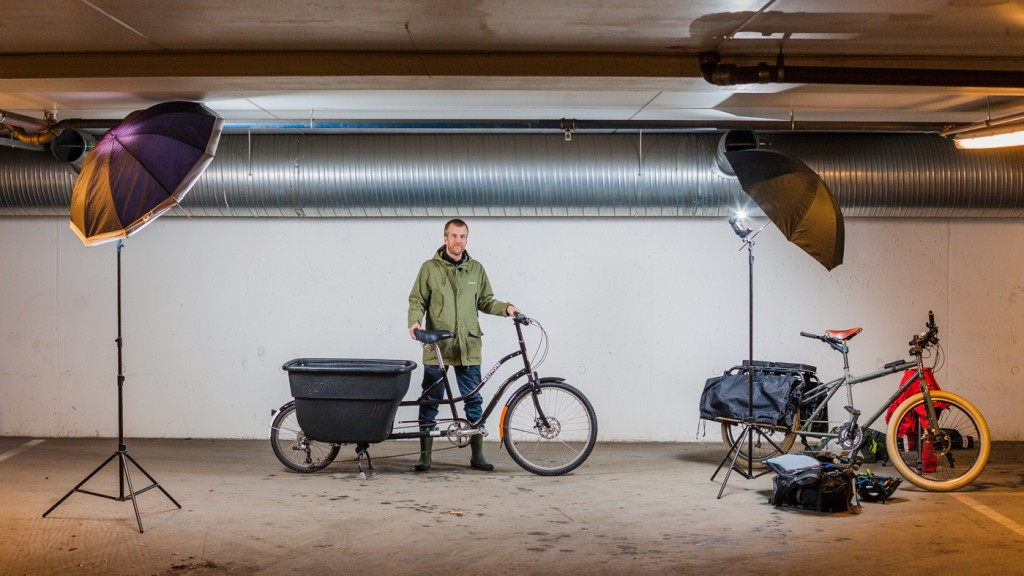FOTOSESJON: Det må selvsagt opplyses om at denne reportasjen er bilfri: Alt utstyr ble fraktet på en Surly Big Dummy longtailsykkel. Foto: Geir Anders Rybakken Ørslien