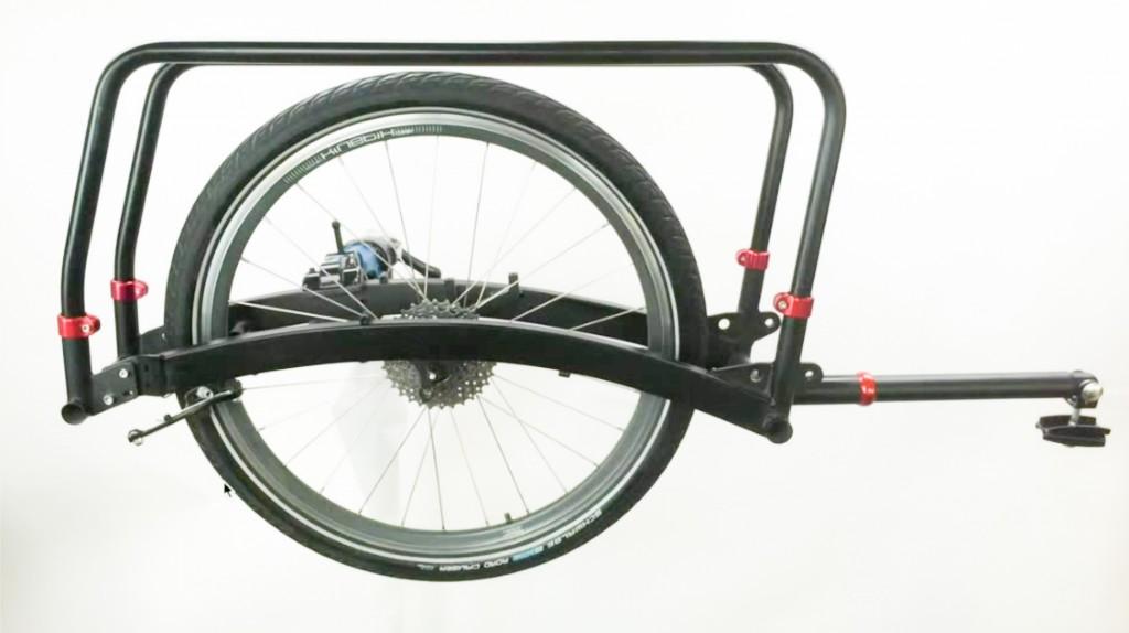 DEN NYE: Fortsatt uten navn, men nå snart i produksjon –Xtracycles nye kit som gjør sykkelen din til en longtail.