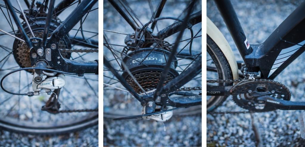 NULL TULL: Det skal innrømmes at sykkelen med fordel kunne fått mer stell og pleie i løpet av vinteren. Men den har klart seg fint likevel. Både motor og drivverk holder koken uten problemer.