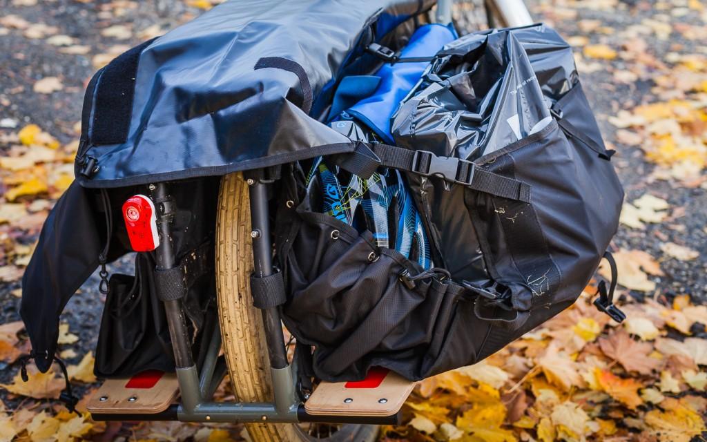 MED LAST: Slik ser Dummy Bags ut med litt bagasje oppi.