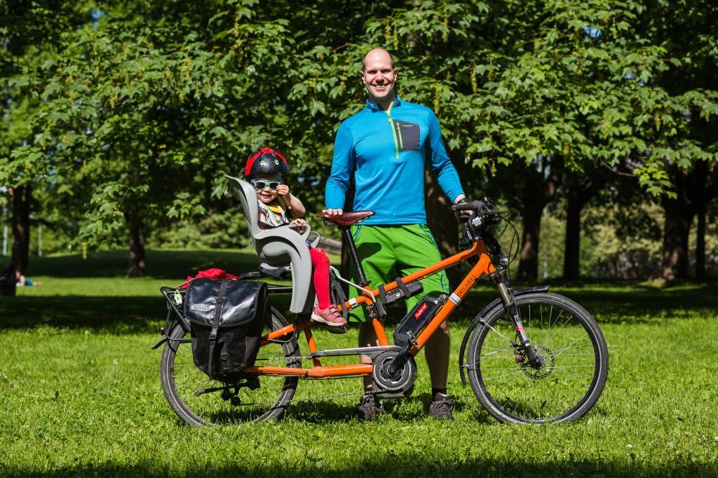 I PARKEN: Kristian Stoll deltok på Transportsykkel 2014 i Frognerparken i mai. Foto: Geir Anders Rybakken Ørslien