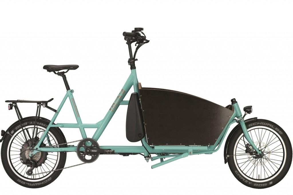 LITEN PLUGG: Tyske i:Sy bygger kompaktsykler med 20-tommers hjul, lanserte i fjor høst lastesykkelen i:Sy Cargo – med bakhjulsmotor fra GoSwissDrive. Vil du både ha lastekasse og en sykkel som ikke tar stor plass, får du i både pose og sekk her.